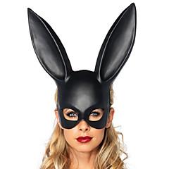 billige Originale moroleker-Haloween-masker Maskerademasker Dyremaske Kanin Nyhet Romantik Kanin Dyremønster Cowgirl Voksne Gutt Jente Leketøy Gave 1 pcs