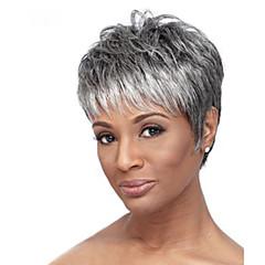 cheap Wigs & Hair Pieces-Human Hair Capless Wigs Human Hair Natural Wave Dark Roots Highlighted/Balayage Hair Short Machine Made Wig Women's