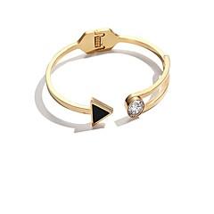 billige Fine smykker-Dame Manchetarmbånd - Mode Koreansk Cirkelformet Guld Rose Guld Armbånd Til Daglig Stævnemøde