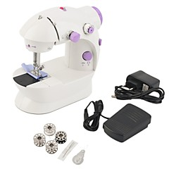 hesapli Araçlar ve Ekipmanlar-mini elektrikli el tipi dikiş makinesi Hafif ayaklı çift hızlı ayarlama çift iplikli dikiş makinesi