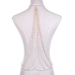 baratos Bijoux de Corps-Pérola Cadeia corpo / Cadeia de barriga - Pérola Rock, Importante Mulheres Dourado Bijuteria de Corpo Para Bandagem