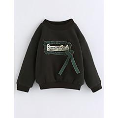 billige Hættetrøjer og sweatshirts til piger-Baby Pige Ensfarvet Langærmet Bomuld Bluse