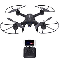 RC Drone DM107S 4 Kanaler 6 Akse 2.4G Med 2,0 M HD-kamera Fjernstyrt quadkopter Høyde Holding WIFI FPV Wide Angle Camera LED-belysning En