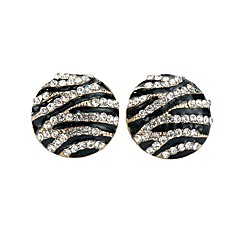 cheap Earrings-Women's Crystal Stud Earrings - Basic Black Circle Earrings For Party / Ceremony