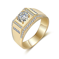 cheap Rings-Men's Band Ring - Vintage, Elegant 8 / 9 / 10 Gold / Silver For Wedding / Party