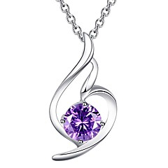 cheap Necklaces-Women's Pendant Necklace - Silver Silver, Purple Necklace For Wedding, Party