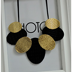cheap Necklaces-Women's Flower Leather Y-Necklace Statement Necklace  -  Black Necklace For Party Party / Evening Daily