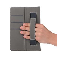 solid mønster skinnveske med håndholder til huawei mediapad t3 10 9,6 tommers tablet pc