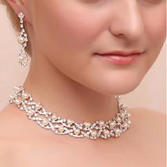 cheap -Women's Drop Earrings Necklace Rhinestone Classic Wedding Party Imitation Pearl Imitation Diamond Alloy Geometric 1 Necklace Earrings