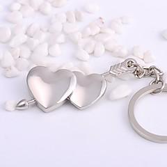 baratos Chaveiros-Chaveiro Prata Irregular Liga Básico, Coração Para Diário / namorados