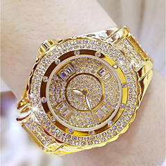 cheap -Women's Fashion Watch Unique Creative Watch Pave Watch Japanese Quartz Water Resistant / Water Proof Rhinestone Colorful Stainless Steel