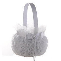 "cheap Flower Baskets-Flower Basket Satin Lace 9"" (23 cm) 1"