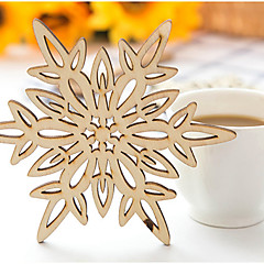 Faux Wood Snowflake Coaster Favors-1 Piece/Set Family