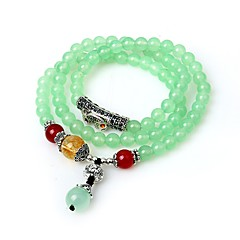 Women S Synthetic Emerald Strand Bracelet Wrap Asian Clic Green For Birthday School