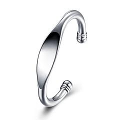 billige -Herre Armringer - Sølvplett Mote Armbånd Sølv Til Gave / Daglig
