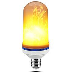 baratos Iluminação Decorativa-1pç 5W 150lm E27 Lâmpadas Espiga 99 Contas LED SMD 2835 Regulável Flickering da chama Decorativa Branco Quente 85-265V