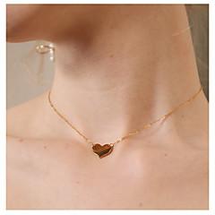 billige Fine smykker-Dame Halskædevedhæng - Hjerte Simple, Mode Guld Halskæder Smykker 1 Til Daglig, I-byen-tøj