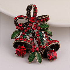 Men's Women's Brooches Rhinestone Vintage Imitation Diamond Alloy Bowknot Jewelry For Christmas Gift
