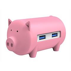 billige USB Hubs & Kontakter-ORICO 3 USB Hub USB 3.0 USB 3.0 Højhastighed Med Kortlæser (e) Indgangsbeskyttelse Overbelastningsbeskyttelse OTG Data Hub