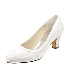 olcso -Női Cipő Streccs szatén Tavasz Ősz Magasított talpú Esküvői cipők Vaskosabb sarok Kerek orrú mert Ruha Party és Estélyi Kristály