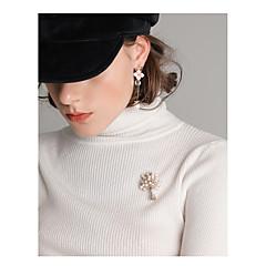 billige Fine smykker-Dame Livets træ Imiteret Perle Brocher - Basale / Mode Guld Broche Til Daglig / I-byen-tøj