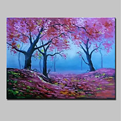 cheap Wall Art-Oil Painting Hand Painted - Landscape Modern Rolled Canvas
