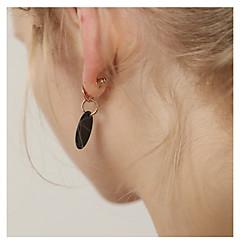 billige Fine smykker-Dame 2stk Stangøreringe - Mode / Koreansk Guld / Sølv Cirkelformet Øreringe Til Daglig / I-byen-tøj