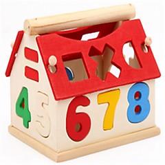 אבני בניין צעצוע חינוכי צעצועים מצחיק Geometric Shape Alphabet Shape דמויות בתים בית- ספר\ טקס סיום פרקט עיצוב יוקרתי עיצוב חדש חתיכות