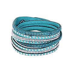 voordelige -Dames Bangles Wikkelarmbanden Lederen armbanden Tennis Armbanden Basisontwerp Vriendschap Europees Modieus Lange Lengte Meerlaags Kostuum