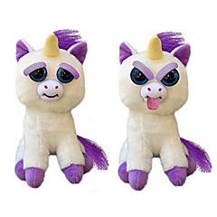 baratos -Animal Brinquedo de Pelúcia Stuffed Toys Brinquedo Unicormary assustador Animais de Pelúcia Fofinho De repente, torne-se hostil Animais
