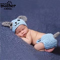 voordelige Babykledingsets-Dagelijks Effen Bamboe Vezel Alle seizoenen Mouwloos Baby Unisex Kledingset Eenvoudig blauw