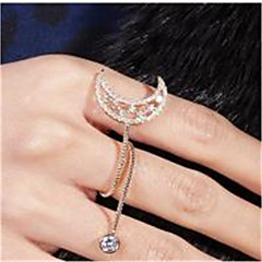 cheap Rings-Women's Cubic Zirconia Zircon / Copper / Silver Plated Band Ring - Simple / Basic / Fashion Gold / Silver Ring For Party / Going out