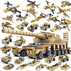 אבני בניין טנק מטוס מסוק צעצועים טנק ספינת מלחמה מכונית קנון Military מִלחָמָה 16 in 1 נערים מבוגרים 544 חתיכות