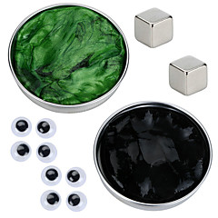2 pcs Magnet Toy Magnetic Putty Building Blocks Puzzle Cube Magnetic DIY Magnetic Type Stress and Anxiety Relief Office Desk Toys Novelty Eyes Kid's / Adults' Boys' Girls' Toy Gift