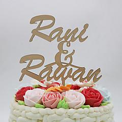 Figurky na svatební dort Přizpůsobeno Klasický pár Pochromovaný Výročí Svatba Žlutá Klasický motiv Vintage Theme rustikální téma 1Umělá