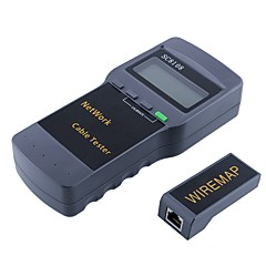 hesapli Ağa Bağlanma-taşınabilir lcd kablosuz ağ test cihazı&lan telefon kablosu test cihazı&lcd ekranlı rj45 metre