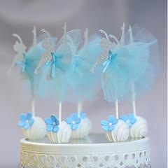 billige Kakedekorasjoner-Kakepynt Nyfødt Fødselsdag Fest/aften Blonde Kartong Papir Fest Bursdag med Blonder 1 OPP