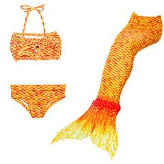 tanie Odzież dla dziewczynek-Dzieci Dla dziewczynek Śłodkie Plaża Solidne kolory / Kreskówki / Gradient Patchwork Poliester / Nylon Kąpielówki Tęczowy 110