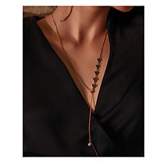 billige Fine smykker-Dame Halskædevedhæng  -  Mode Koreansk Geometrisk form Guld Halskæder Til Bar Natklub