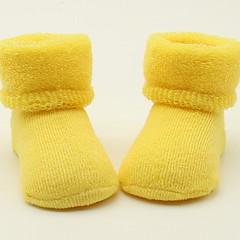 Χαμηλού Κόστους Εσώρουχα και κάλτσες για κορίτσια-Γιούνισεξ Κάλτσες & Καλσόν Όλες οι εποχές Βαμβάκι - Πράσινο του τριφυλλιού Κίτρινο
