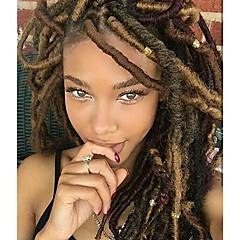 voordelige Haarvlechten-Vlechthaar Gekruld Dreadlocks / Faux Locs Synthetisch haar 1pack, 24 wortels / pack haar Vlechten 14 inch(es) Medium Zacht / nieuwe collectie / 100% kanekalon haar