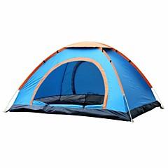 billige Telt og ly-4 personer Oxfords / Skjermtelt / Strandtelt Enkelt Automatisk Kuppel camping Tent Utendørs Regn-sikker til Camping & Fjellvandring / Fisking / Utendørs Trening 1000-1500 mm Oxfordstoff, 100