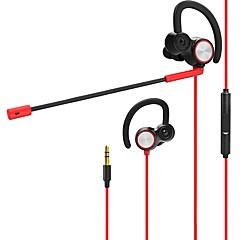billiga Headsets och hörlurar-v6 I öra Kabel Hörlurar Dynamisk PVC (polyvinylklorid) / PEVA Spel Hörlur Dual Drivers headset