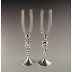 Vidro Brindando flautas Caixa de Ofertas Abstrato Casamento Todas as Estações