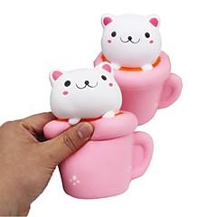tanie Odstresowywacze-LT.Squishies / Squishy Zabawki do ściskania Okrągły Kot Zabawki biurkowe Stres i niepokój Relief Zabawki dekompresyjne Zabawne Wszystko