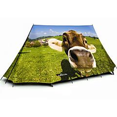 billige Telt og ly-3-4 personer Dobbelt camping Tent Ett Rom Familietelt Regn-sikker Reise Vandring til Camping & Fjellvandring Camping / Vandring / Grotte