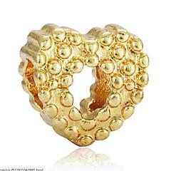 baratos Miçangas & Fabricação de Bijuterias-Jóias DIY 1 pçs Contas Liga Dourado Prata Coração Bead 0.2 cm faça você mesmo Colar Pulseiras