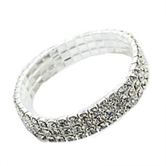 cheap Bracelets-Women's Cuff Bracelet Rhinestone Fashion Imitation Diamond Alloy Geometric Jewelry Daily Costume Jewelry Silver