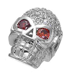 baratos Miçangas & Fabricação de Bijuterias-Jóias DIY 1 pçs Contas Imitações de Diamante Liga Prata Caveira Bead 0.5 cm faça você mesmo Colar Pulseiras