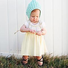 billige Babytøj-Baby Pige Simple Ensfarvet Uden ærmer Kjole